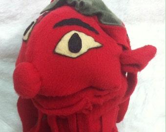 Red hand, fantasy Goblin puppet