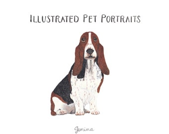 Custom Illustrated Pet Portrait