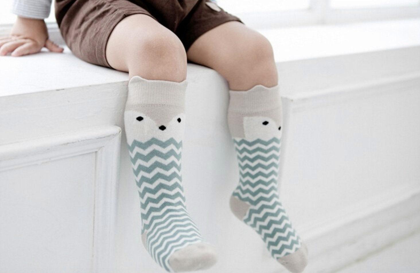 Baby Toddler Knee socks Chevron Fox socks by