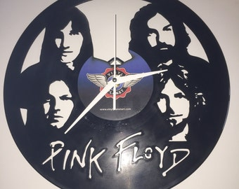 "Pink Floyd vinyl record wall art - upcycled from an original 12"" vinyl record"