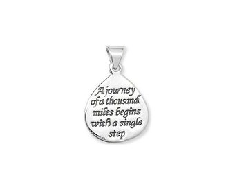 Sterling Silver (925) - A Journey of a Thousand Miles Pendant