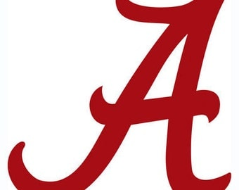 Alabama crimson tide letter A