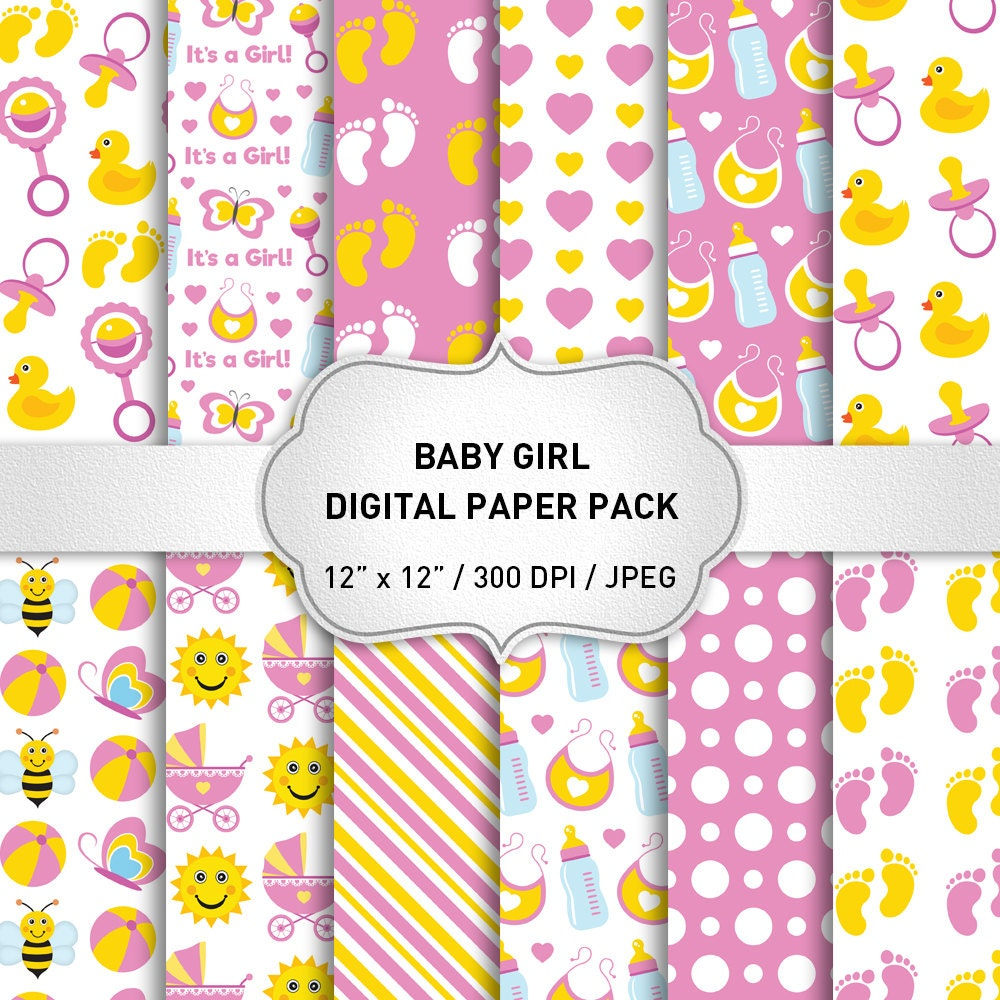 Scrapbook paper baby - This Is A Digital File