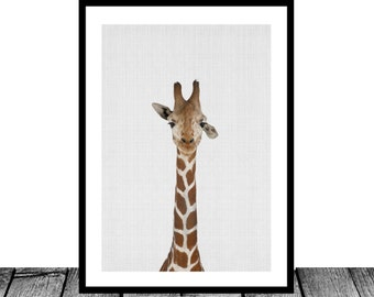 Giraffe Print, Instant download, African Wildlife print, Nursery wall art, Nursery printable art, Nursery decor, Giraffe Decor