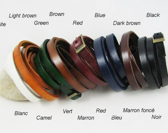 Gift unisex leather bracelet choice of colour, can be personalized and engraved