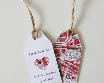 Wedding Name Place Tag - Choose your Location