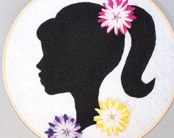 Handmade Felt Floral Hair Clip