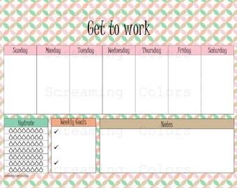 Pastel Circles Weekly Planner Organizer