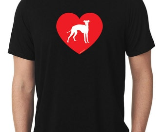 Love Italian Greyhound T-Shirt iggy ig T88