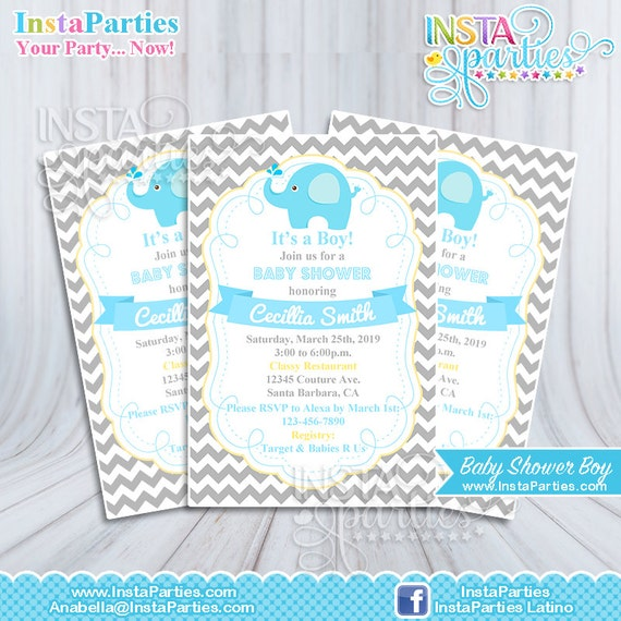 Baby Elephant Baby Shower Invites for adorable invitations sample