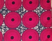 Pink and Grey Quality African Textile by the Yard, African Fabric Shop, African Designs, Ankara fabric, African Supplies, African Fabrics