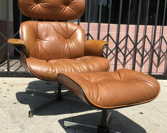 Mid Century Lounge Chair & Ottoman by Plycraft