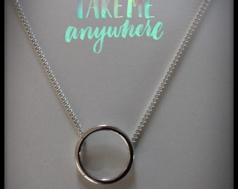 Sterling silver Karma necklace
