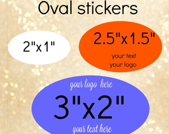 custom oval stickers different sizes with your words or text, product stickers, personalized stickers,oval label,stickers, logo stickers