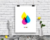 Art Print - Design Gift - Digital Print - CMYK - Download Poster - Graphic Design Poster- Printable Wall Art- Instant Download Poster