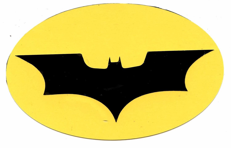 2008 batman the dark knight symbol logo scrapbook die cut buycottarizona
