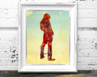 Cowboy Print,#Western,#Southwest,#Midwest,#cowpoke,#Rustic,#Country,#Ranch,Farm,#DigitalArt,#HomeDecor,#InteriorDesign,#Man,#Artwork