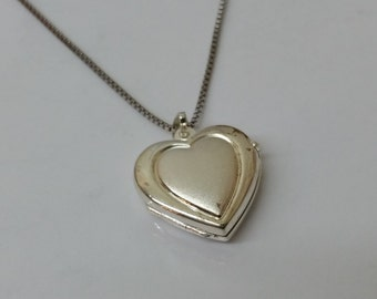 925 Silver Locket heart pendant-folding SK704