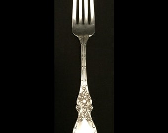 """FREE SHIPPING-Beautiful-Antique-Lucerne-Wallace-Sterling Silver-Not Monogramed-7""""-Dinner Fork"""