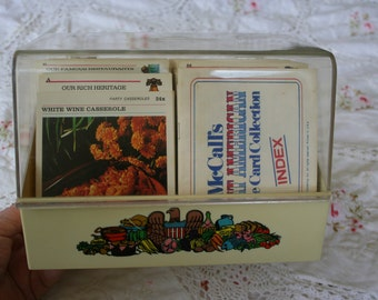 McCalls Great American Recipe Card Collection 1974 pluse several hand written recipes