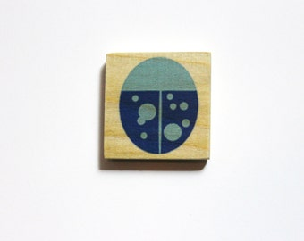 Set of 3 Artwork Magnets - Your favorite images on wooden magnets!