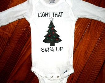 Light That UP Holiday Christmas Onesie LongSleeve ShortSleeve
