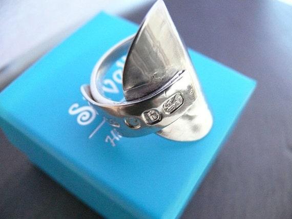 Georgian Antique Spoon Ring - Sterling Silver - Hallmarked Sheffield 1791