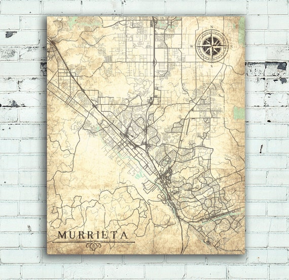 Murrieta Ca Canvas Print California Vintage Map: Old Maps Of California At Slyspyder.com