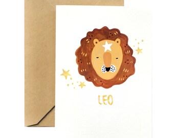Birthday Greeting Card   Leo Horoscope