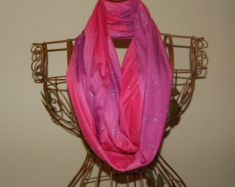 Infinity Scarf - Pink/Silver