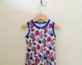 Clearance Vintage Girls Dress Size 4T, Summer Dress, Vacation Dress, Vintage Girls Clothes