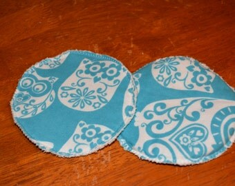 Nursing Pads - Flannel w/microfiber terrycloth insert (pair)