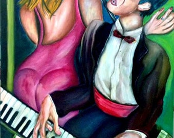 The Jazz Singer and the pianist