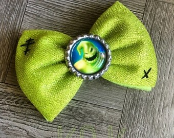 Oogie boogie hair bow, oogie boogie bow, hair bows, bows, hair bows, nightmare before Christmas hair bow, nightmare before Christmas bow,bow