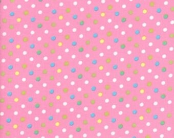 Cool Cords Spots on pink Corduroy Needlecord Cotton created by Ann Kelle for Robert Kaufman