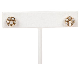 14 kt Gold Sea Pearl Earrings