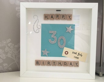 Special Age Birthday Scrabble Art Frame