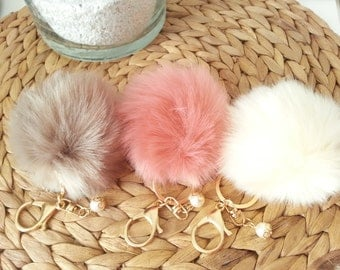 Pompon in faux fur for your filofax, your fauxdori, your bag or your key!