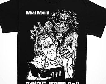 """Zombie Jesus """"WWZJD"""" T Shirt"""
