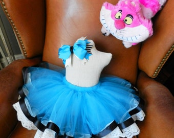 Alice in Wonderland Costume - Alice in Wonderland Tutu - Halloween Costume - Wonderland Costume - Birthday Tutu - Girls Costume