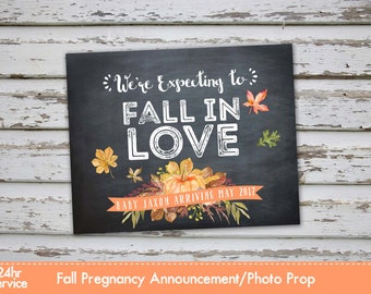 Fall Pregnancy Announcement Poster, Fall Pregnancy Reveal, Fall Pumpkin Pregnancy Announcement, Autumn Pregnancy, Pumpkin pregnancy