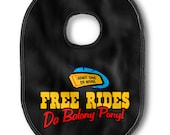 50th Birthday (Adult Bib) - Free Rides, Da Baloney Pony  - Funny Mens Boxer Underwear Gift Unique - COCKBIB Free Rides The Balony Pony