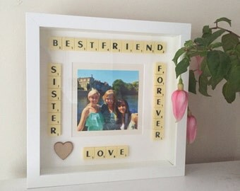 Personalised Scrabble Picture Frame Gift Idea Present