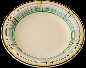 Clarice Cliff Bowl - Tartan Pattern