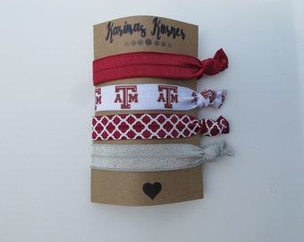 Texas A&M inspired Elastic Hair Ties
