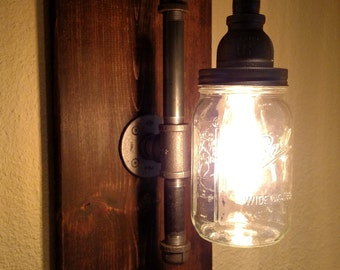 Pipe Lighting Sconce Restoration Hardware-Style Industrial