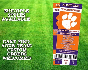 Clemson Tigers Invitation