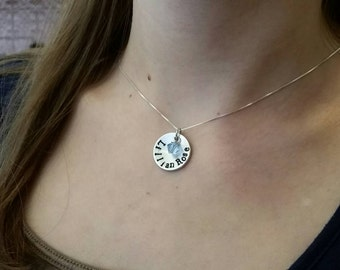 Name necklace. Mother's necklace.