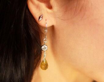 Grossular Garnet Drop Earrings
