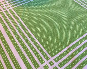 Oleg Cassini Green Tablecloth